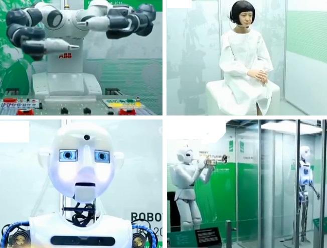 """""""机器人史500年""""展览在英国举行"""
